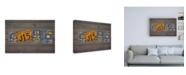 "Trademark Global Design Turnpike PA State Love Canvas Art - 19.5"" x 26"""