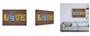"Trademark Global Design Turnpike WI State Love Canvas Art - 36.5"" x 48"""