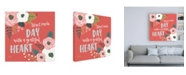 "Trademark Global Laura Marshall Wildflower Daydreams VII Grateful Heart Canvas Art - 19.5"" x 26"""