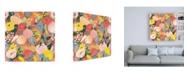 "Trademark Global Laura Marshall Wild Garden Pattern IB Canvas Art - 15.5"" x 21"""