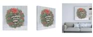 "Trademark Global Emily Adams Christmas Critters Bright VI Canvas Art - 36.5"" x 48"""
