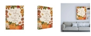 "Trademark Global Katie Pertiet Fall Garden III v2 Canvas Art - 15.5"" x 21"""