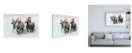 "Trademark Global Merrie Asimo Run and Splash Canvas Art - 19.5"" x 26"""