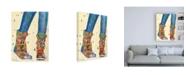 "Trademark Global Pamela K. Bee Hiking Boots Canvas Art - 15.5"" x 21"""