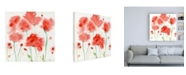 "Trademark Global Sheila Golde Poppy Reds Canvas Art - 36.5"" x 48"""
