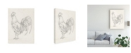 "Trademark Global Ethan Harper Rooster Sketch II Canvas Art - 15"" x 20"""