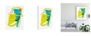 "Trademark Global June Erica Vess Fringe Aspect III Canvas Art - 20"" x 25"""