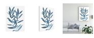 "Trademark Global Megan Meagher Indigo Leaves III Canvas Art - 37"" x 49"""