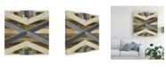 "Trademark Global June Erica Vess Geometric Inlay III Canvas Art - 15"" x 20"""