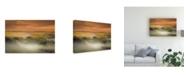 "Trademark Global Marcos Dijkos Morning Fog Landscape Canvas Art - 37"" x 49"""