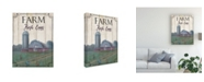 "Trademark Global Marnie Bourque Farm Fresh 2 Vintage Barn Canvas Art - 15"" x 20"""