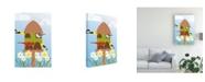 "Trademark Global Marie Sansone Bird Feeder Canvas Art - 15"" x 20"""