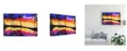 "Trademark Global Michelle Mccullough Tropical Blue Orange Canvas Art - 15"" x 20"""