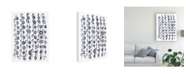 "Trademark Global June Erica Vess Indigo Batik Vignette V Canvas Art - 20"" x 25"""