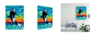 "Trademark Global Carolee Vitaletti Ocean Friends Bold I Canvas Art - 20"" x 25"""