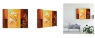 "Trademark Global Pablo Esteban White on Panels 2 Canvas Art - 15.5"" x 21"""