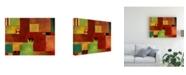 "Trademark Global Pablo Esteban Bold Geometry 2 Canvas Art - 15.5"" x 21"""