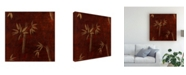 "Trademark Global Pablo Esteban Bamboo Line Art Red Canvas Art - 15.5"" x 21"""