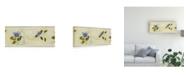 "Trademark Global Pablo Esteban Blue Flowers Over Yellow 2 Canvas Art - 27"" x 33.5"""