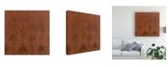 "Trademark Global Pablo Esteban Black Stencil Rust Canvas Art - 19.5"" x 26"""