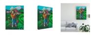 "Trademark Global Oscar Ortiz Father Son Farm Canvas Art - 36.5"" x 48"""