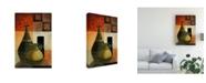 "Trademark Global Pablo Esteban Vases Over Geometry 3 Canvas Art - 36.5"" x 48"""
