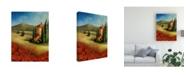 "Trademark Global Pablo Esteban Tuscan Hidden Home Canvas Art - 19.5"" x 26"""