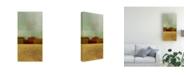 "Trademark Global Pablo Esteban Red Flat Cityscape 1 Canvas Art - 19.5"" x 26"""