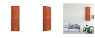 """Trademark Global Pablo Esteban Red Stencil Banner 1 Canvas Art - 36.5"""" x 48"""""""