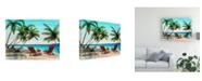 "Trademark Global Patrick Sullivan Tropical Vacation Canvas Art - 19.5"" x 26"""