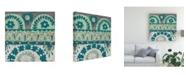 "Trademark Global Chariklia Zarris Teal Tapestry IV Canvas Art - 15.5"" x 21"""