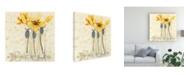 "Trademark Global O. Boem Inspired Yellow Canvas Art - 15.5"" x 21"""