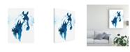 "Trademark Global Julie T. Chapman Blue Agate IV Canvas Art - 15.5"" x 21"""