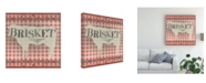 "Trademark Global June Erica Vess Gingham Bbq II Canvas Art - 19.5"" x 26"""