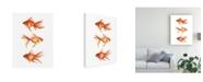 "Trademark Global Emma Scarvey Ornamental Goldfish III Canvas Art - 15.5"" x 21"""