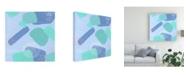 "Trademark Global Melissa Wang Spaces Between Blue Shapes II Canvas Art - 15.5"" x 21"""