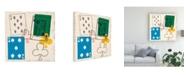 "Trademark Global June Erica Vess Game Time II Canvas Art - 36.5"" x 48"""