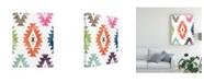 "Trademark Global June Erica Vess Aztec Brights IV Canvas Art - 15.5"" x 21"""