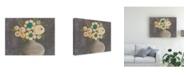 "Trademark Global Regina Moore Crackled Bouquet II Canvas Art - 27"" x 33.5"""