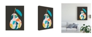 "Trademark Global June Erica Vess Fab Fruit I Canvas Art - 15.5"" x 21"""