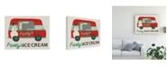 "Trademark Global June Erica Vess Food Truck Holidays IV Canvas Art - 27"" x 33.5"""