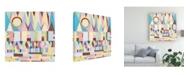 "Trademark Global Nikki Galapon Geometric Horizon Canvas Art - 19.5"" x 26"""
