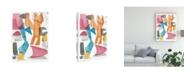 "Trademark Global Melissa Wang Colors of Sound II Canvas Art - 15.5"" x 21"""