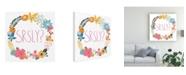 "Trademark Global June Erica Vess Floral Canvas Art - 19.5"" x 26"""