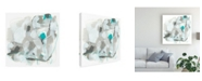 "Trademark Global June Erica Vess Blue Scramble I Canvas Art - 15.5"" x 21"""