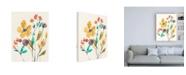 "Trademark Global Jennifer Goldberger Whimsy Flowers I Canvas Art - 27"" x 33.5"""