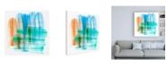 """Trademark Global Sharon Chandler Color Swipe III Canvas Art - 15.5"""" x 21"""""""
