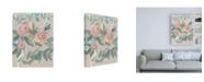 "Trademark Global Jennifer Goldberger Laurels Posies II Canvas Art - 15.5"" x 21"""