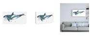 "Trademark Global June Erica Vess Cetacea Orca Whale Canvas Art - 27"" x 33.5"""