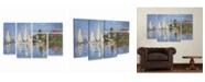 """Trademark Global Claude Monet Regatta at Argenteuil Multi Panel Art Set 6 Piece - 49"""" x 19"""""""